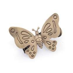 """Прищіпка для штор """"метелик"""" бронза"""