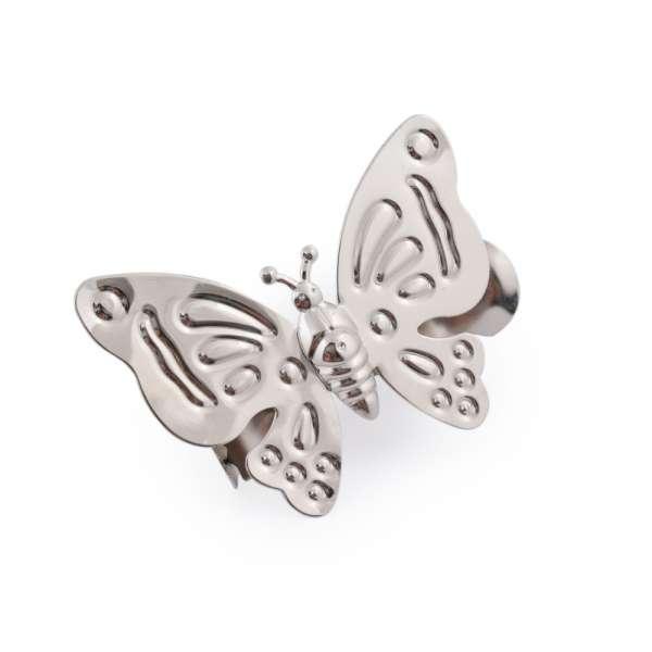 Прищепка декоративная для штор металл бабочка 12х9 см серебро