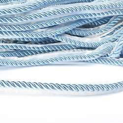 Кант-шнур голубой, диаметр 0,9см, тесьма 1,5см