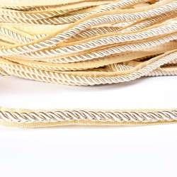 Кант-шнур молочный, диаметр 0,9см, тесьма 1,5см