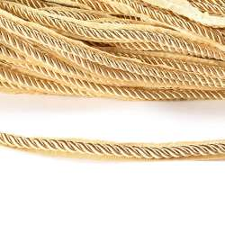 Кант-шнур вшивной 9мм тесьма 15мм шампань