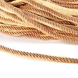Кант-шнур карамель, диаметр 0,9см, тесьма 1,5см