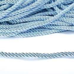Шнур витой голубой, диаметр 0,9см