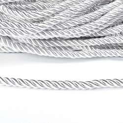 Шнур витой белый, диаметр 0,9см