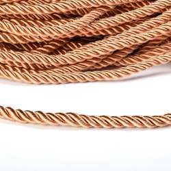 Шнур витой карамель, диаметр 0,9см