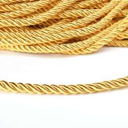 Шнур витой золото, диаметр 0,9см