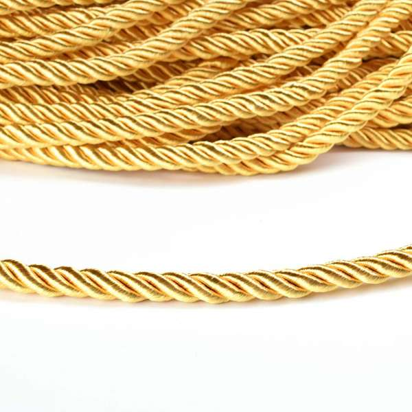Шнур витой 9мм золото