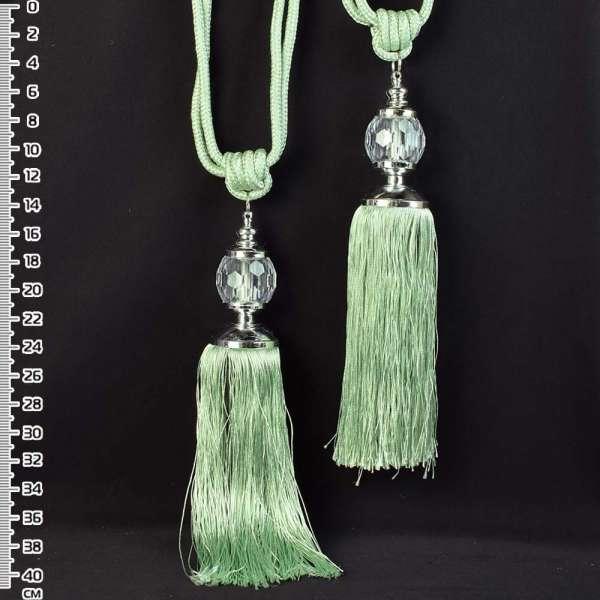 Кисть (пара) зеленая (мята), длина 65см, кисть 20см, шар 5см