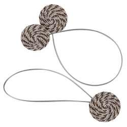 Підхват магнітний для штор коло зі шнуром коричневий строкатий