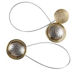 Підхват магнітний для штор коло плетінка срібло з золотом