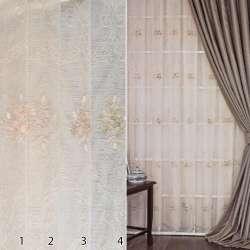 45190 Тюль сітка з вишивкою ш.295