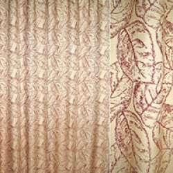 Рогожка жаккард портьєрна листя